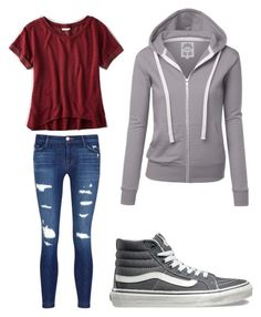 """""""Untitled #42"""" by a-basketball-h on Polyvore featuring American Eagle Outfitters, J Brand and Vans"""