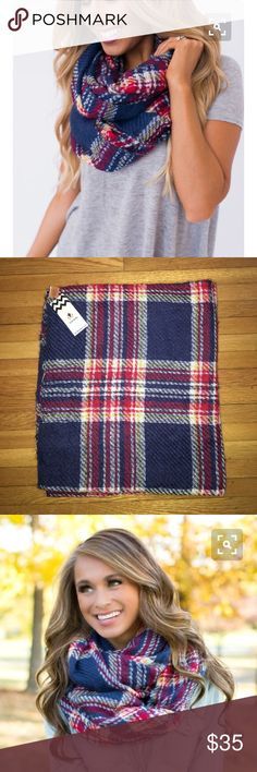 NWT! Plaid Scarf NWT! Plaid Scarf. Brand new, perfect condition! Originally purchased online from Dottie Couture Boutique. Accessories Scarves & Wraps