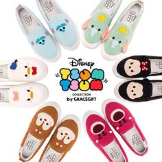 Grace gift Disney increased loafers female white shoes thick crust within Tsum Tsum cute embroidery