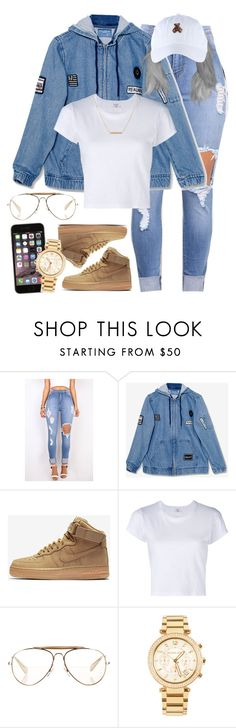 """19:43"" by mcmlxxi ❤ liked on Polyvore featuring NIKE, RE/DONE, CÉLINE, Michael Kors and Dutch Basics"
