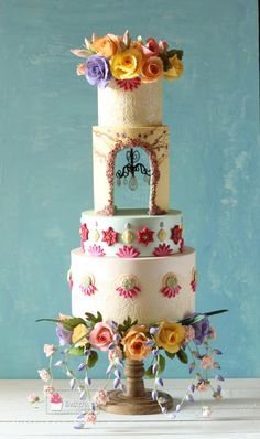 Floral Romance - cake by Lubna Gafoor