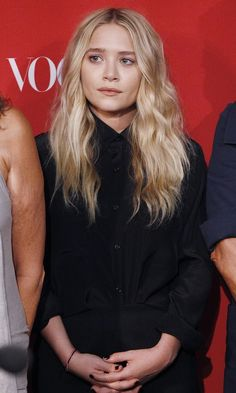 Mary-Kate Olsen Attends Fashion's Night Out Event In An All Black Look