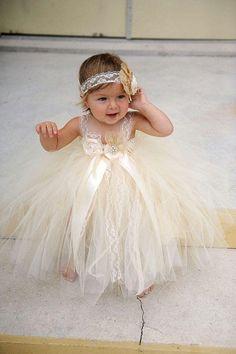 Champgne Beaded Lace Newborn Baby Flower Girls Dresses 2015 Spaghetti Ball Gown Infant Little Girls Pageant Dresses Formal For Wedding Toddler Dresses Cheap Flower Girl Dresses From Weddingdressseller, $67.02| Dhgate.Com