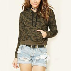 New products 2016 wholesale women trendy camo hoodie sweatshirt