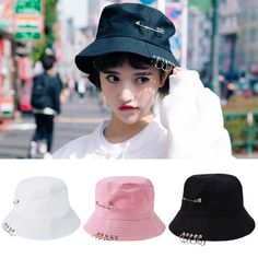 2b97bdc4288 2017 Folding Hunting Fishing Fisherman Outdoor Cap Cool Unisex Iron Ring Bucket  Hat Fisherman Hats for