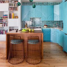 Surreal Boho Brooklyn Loft A whimsical, playful, travel-inspired home by our NYC designer Marc Houston.By By or BY may refer to: Cheap Living Room Sets, Living Room Green, Bedroom Set Designs, Living Room Designs, Deco Turquoise, Space Saving Kitchen, Apartment Makeover, Loft, Small Apartment Decorating