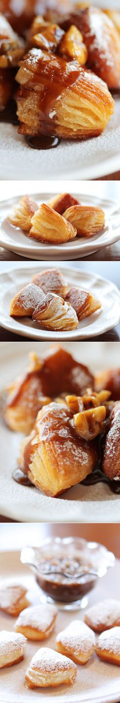 Biscuit Beignets with Praline Sauce. : kevinandamanda --- pp: You must make this at least once in your lifetime. A true southern treat!