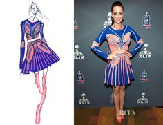katy perry super bowl costume | Katy Perry attended a press conference to talk about her halftime ...