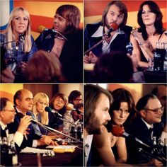 Pictures of Abba during their press conference in Poland which took place in October 1976... #Abba #Agnetha #Frida #Poland http://abbafansblog.blogspot.co.uk/2017/10/poland.html