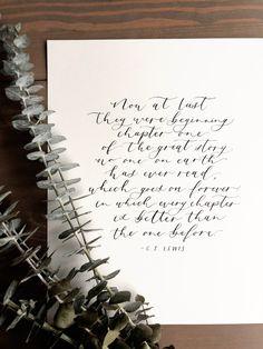Calligraphy Quote | Wedding Quote | C.S. Lewis