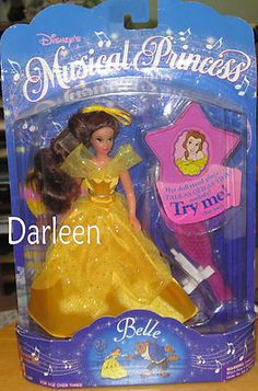 """6"""" Disney musical princess Belle doll from Beauty and the Beast no music 