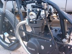 Trying to decide if I want to do it or not, could ya post pics of your painted motor combos to help me decide. Xs650 Bobber, Bobber Chopper, Scrambler, Yamaha 650, Custom Motorcycles, Engineering, Bike, Vehicles, Twins