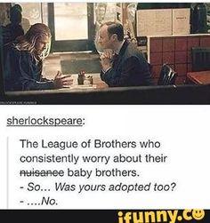 thor, mycroft, babybrothers