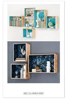 accrochées individuellement au mur Tuto accroche différente http://tetedange.canalblog.com/archives/2013/12/05/28594984.html