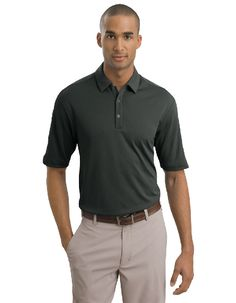 Built from Dri-FIT fabric, this polo helps keep you cool and dry. Pearlized buttons are selected to complement the shirt color. The contrast Swoosh design trademark is embroidered on the left sleeve. The design features a self-fabric collar, three-button placket and open hem sleeves.The stitch-trimmed gussets make a distinctive statement and allow for easy movement.