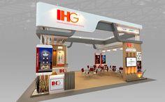 ihg hotel booth design 3d model max 3ds 3