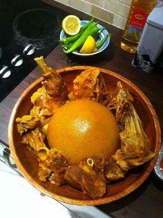 المطبخ الليبي  اكلة بازين (^.^)