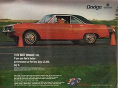 1970 Dart Swinger Dodge ad