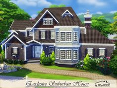 Exclusive Suburban House is a very elegant family home built on 40x30 lot in Willow Creek. Found in TSR Category 'Sims 4 Residential Lots'