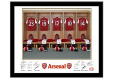 An ideal personalised gift for fans of Arsenal football club  £30   #gifts  For thousands of Arsenal fans the ultimate dream is to have their name and chosen shirt number on the back of a Gunners kit, and this great personalised gift can make those dreams come true! (Sort of). The high quality, framed picture was taken in the actual Arsenal first team dressing room and makes an utterly unique gift for fans of Arsenal FC