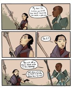 "neotericwitch: "" Inquisitor Imira Lavellan and Madame de Fer generally get along very well despite disagreeing on some key points. """