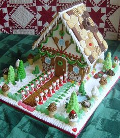 """""""Cookie Chalet"""" by Kristine S. (Most Creative) gingerbread house, cookie house, Christmas house Homemade Gingerbread House, Cool Gingerbread Houses, Gingerbread House Designs, Gingerbread House Parties, Gingerbread Village, Christmas Gingerbread House, Christmas Sweets, Christmas Candy, Christmas Baking"""