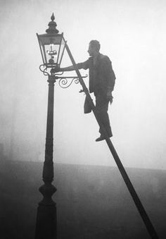 """the old lamplighter of long long ago . . he made the night a little brighter . . ."""