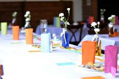 Rainbows table decorations