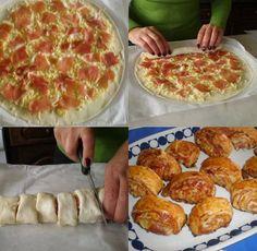 Pizza rolletjes maken