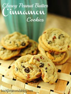 Chewy Peanut Butter Cinnamon Cookies