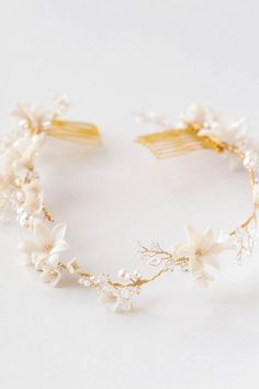 EDEN | Floral and pearl bridal headpiece