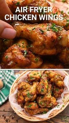 Air Fryer Oven Recipes, Air Frier Recipes, Air Fryer Dinner Recipes, Healthy Dinner Recipes, Healthy Dinners, Air Fryer Recipes Videos, Comida Diy, Comida Keto, Air Fryer Chicken Wings