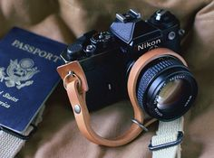 Found! Leather Camera Strap from Tap & Dye