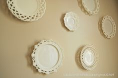 milk glass plates