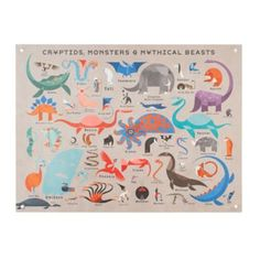 Before you spend an afternoon hunting for Sasquatch or diving for Loch Ness, maybe you should take a look at this banner instead.  It features tons of illustrated cryptids, all in the comfort of your home.