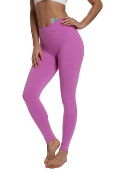 b4ae5dbf995ea Amazon.com : ANBENEED Gym Workout Leggings Yoga Pants for Women Non See  Through Active