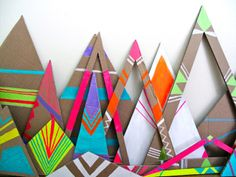 paint tribal patterns on cardboard! Combine for a complete abstract piece Diy For Kids, Crafts For Kids, Arts And Crafts, Diy Crafts, Diy Paper, Paper Art, What's My Favorite Color, Cardboard Display, Tribal Patterns