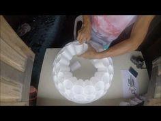 Mãos que fazem, arte - Boneco de neve versão copo descartável - Afuá - M...