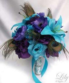 peacock floral arrangements | Artificial Flower Arrangement Peacock Feathers Mirror Vase Flower