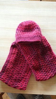 Mütze und Loop-Schal mit ganzen Stäbchen