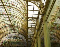 """walzerjahrhundert: """" Art Nouveau Architecture in Belgium: Wintertuin (winter garden) of the Ursulines Institute, Onze-Lieve-Vrouw-Waver,Belgium,ca 1900 """""""