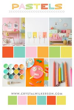 """Crystal Wilkerson's """"Mood Board Monday"""" - Pastels"""