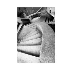 Stairs Art photograpy Conceptual Photograph Black and by gonulk, $50.00