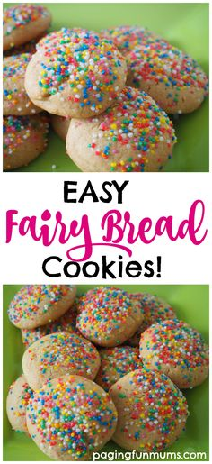 Easy Fairy Bread Cookies! Kid made and delicious.