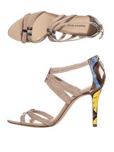 ALEXANDRE BIRMAN  Raffia and leather sandals | SS2013