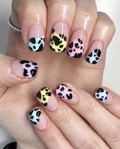 32 Pastel Summer Nail Art Designs To Impress Funky Nail Designs, Funky Nail Art, Nail Designs Pictures, Funky Nails, Cute Nail Art, Beautiful Nail Designs, Cute Nails, Nail Art Designs, Nail Desighns