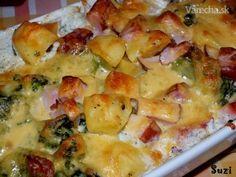 Zapekané zemiaky s brokolicou