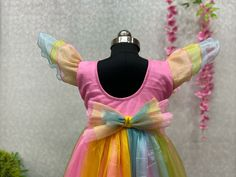 Price Rs 740 + Shipping extra WE ARE LAUNCHING NEW DESIGNER RAINBOW KIDS FROCK Frock Details Fabric: SOFT PURE TISSUE NET AND BACK SIDE FANCY BEAUTIFUL FLOWER Inner:- 2 LAYER, SILK AND COTTON BASE WITH CAN CAN Size Years:- 1 TO 2 Chest Size: 24 INCHES Length:- 20 INCHES Size:- 18 Years: 2 to 4 Chest Size:- 25 INCHES Length:- 24 INCHES Size:- 22 Years: 4 to 6 Chest Size:- 28 INCHES Length:- 27 INCHES Frocks For Girls, Kids Frocks, Cute Girl Outfits, Girl Online, Girls Wear, Lehenga Choli, Beautiful Flowers, Boy Or Girl, Product Launch