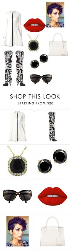 """Black & White Things"" by antilia-maria-bradley ❤ liked on Polyvore featuring Ermanno Scervino, Tom Ford, Allurez, Cartier and Lime Crime"