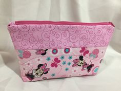 Minnie Mouse Pink Cosmetic/Make Up/Travel Bag by MommyMaryCrafts on Etsy